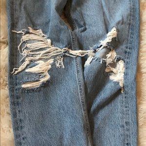 Agolde Jeans - Distressed wide leg boyfriend jeans!